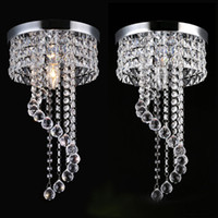 Wholesale Rustic Porches - 20 25cm Crystal Chandelier chandelier lights chandelier light Fixtures Flush Mount Ceiling Light Lamp for Aisle Stair Hallway Porch Lights
