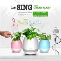 Wholesale Creatives Touch Wireless Bluetooth Flowerpot Mini Subwoofer Speaker with LED Multiple Colors Home Smart Plant Office Mp3 Music Player Toy