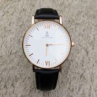 Wholesale Gold Watch Brown Leather Strap - Fashion KAPTEN & SON Brand women men Unisex Leather strap quartz wrist watch