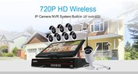 Wholesale Cctv 8ch Cameras - 8CH Wireless Camera Kits CCTV System Wire Home Security IP Camera Bullet Video Surveillence bundle 10 Inch Displayer