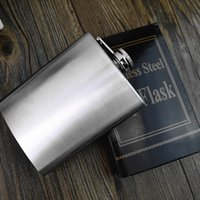 Wholesale Bonus Box - Boom 8oz Stainless Steel Pocket Hip Flask Retro Whishkey Flask Liquor Screw Cap Includes Free Bonus Funnel and Black Gift Box JU055