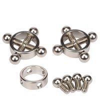 Wholesale Adjustable Nipple Clamps - Adjustable Breast Nipple Clamps Clips Female Extreme Weight Stainless Nipple Clamps Chain Bdsm Bondage Sex Toys For Couples