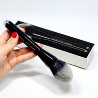 ingrosso spazzola grande della polvere di fronte-Pennello per trucco professionale da donna molto grande Blush Single Brush per fondotinta impeccabile