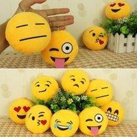 Wholesale Soft Toy Flowers - Wholesale-Wholesale New Cute Emoticon Smiley Yellow Cushion Stuffed Plush Soft Toy Mini Emoji Emoticon Toy