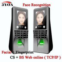 Wholesale Door Locks Electronic Fingerprint - Wholesale- Biometric Facial Face Fingerprint Password Key Lock Access Control Attendance Machine Electric Code System Door Electronic