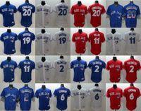 Wholesale Red White Pill - 2016 New Toronto Blue Jays Baseball Jerseys #6 Marcus Stroman #2 Troy Tulowitzki #20 Josh Donaldson #19 Jose Bautista #11 Kevin Pill Jerseys