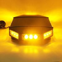 18 führte bernstein strobe großhandel-18-Zoll-Bernstein Low Profile Magnetische Dach Mount Notfall Fahrzeug Strobe Mini LED Light Bar