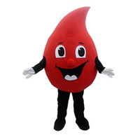 Wholesale new cartoon mascot costumes resale online - Factory direct sale Hot Sale New special customized red Drop of blood mascot costume Cartoon Fancy Dress