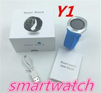 Wholesale Fitness J - kid Y1 smart watches Latest Round Touch Screen Round Face Smartwatch Phone with SIM Card Slot smart watch for IOS Android J-BS