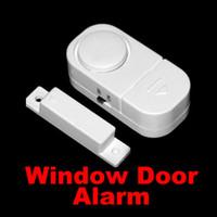 kapı alarmı ücretsiz gönderim toptan satış-100 adet Yeni Kablosuz Hareket Sensörü Dedektörü Ev Kapı Pencere Güvenlik Hırsız Alarm Ücretsiz DHL FEDEX Nakliye 0001