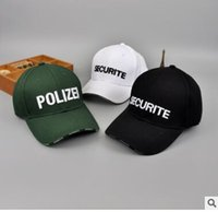 Wholesale Police Ball Caps - 2017 New High Quality Police Tactical Cap Mens Baseball Caps Brand Snapback Trucker Vetements Hat for Man Women cotton Material casquette