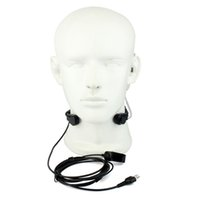 Wholesale Radio Headset Throat Mic - Throat Mic Microphone Finger PTT Headset Earpiece for Midland LXT210 LXT216 Ham Radio Hf Transceiver Walkie Talkie C2207A