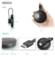 Novo design G2 Wireless WiFi Display Dongle Receiver 1080P HD MINI Stick Airplay Miracast Media Streamer Adapter Media para Google