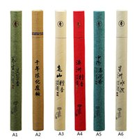 oriental boxes - 1Pc Sticks Box Natural Sandalwood Oriental Buddha Buddhist Aromatic Line Incense