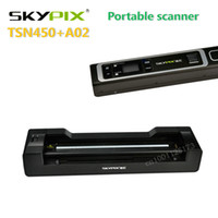 Wholesale photo portable scanner resale online - skypix TSN450 A02 portable scanner HD1200dpi docking Automatic feed A4 Document Photo Scanner