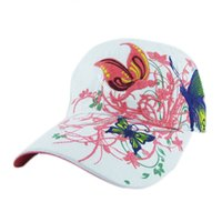 Wholesale Shop Wholesale Spring - Wholesale- High Quality 2017 Spring Summer Embroidered Baseball Cap Women Lady Fashion Shopping Cycling Visor Sun Hat Cap Women De292