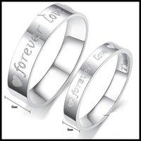 ingrosso anelli d'amore per sempre-FOREVER LOVE anelli coppia titanio anello in acciaio inox per uomo donna amante gioielli di moda di alta qualità 2015 epacket libero 080001