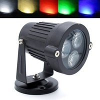 Vente en gros- IP65 Waterproof Led Lampe à gazon 9W DC 12V Outdoor Landscape Spotlight Blue / Green / Red / White / Warm White Garden Yard Floodlight