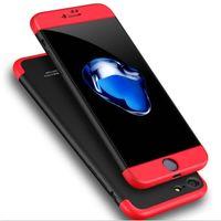 piel protectora de teléfono celular al por mayor-3 en 1 Ultra-Thin 360 Degree Full Coverage Cell Phone Estuche rígido para iPhone 7 plus 6S 6Plus 5S Samsung S8 Hard PC Protective Skin Cover Shell