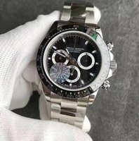 Wholesale Nice Automatic Watches - JF factory 7750 automatic chrono chronograph best version top men watch wristwatch sapphire nice watches