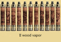Wholesale Carved Wood Hands - retail Variable Voltage 3.3V-4.8V Electronic Cigarette Wooden 900mah X Hand Carved Wood E Fire II With Awesome Protank II KIt