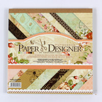 Wholesale 7 Beautiful DIY Vintage Floral Style Scrapbooking Paper Pack of sheets Handmade Craft Paper Craft Background Pad