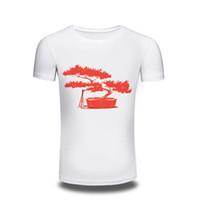 Wholesale Clothes Drying Tree - Newest 2017 men's fashion short sleeve t-shirt Red tree and birds printed tee shirts Hipster O-neck cool tops mens Clothing free shipping