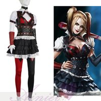 Batman Dark Knight Harley Quinn Arkham Asylum Costume Cosplay Outfit Party Dress Costume Cosplay CS191400