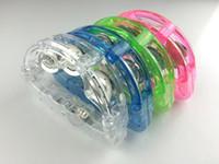 ingrosso luce lampeggiante del tamburello-Dinamo tamburello sonaglio flash light emitting bar forniture bar Diba giocattoli di plastica luminosi da sposa