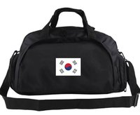 Wholesale Korea Luggage - Korea duffel bag Stadium training tote Country team flag backpack Football luggage Sport shoulder case Outdoor sling handbag
