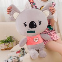 Dorimytrader Pop Soft Anime Koala Plush Toy Big Stuffed Cartoon Koalas Doll Animal Pillow Kids Gift 60cm 24inches DY61645