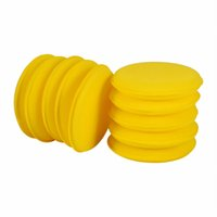 Jaune Auto Car Waxing Polish Soft Foam Sponge Wax Applicator Cleaning Détaillants 10 PCS / Set Anti-Scratch