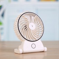 Wholesale Mini Humidifier Power - Wholesale- Handheld Humidifier Portable Rechargeable USB Powered Fan Office Electric Mini Fan Air Conditioning Moisturizing For Computer PC