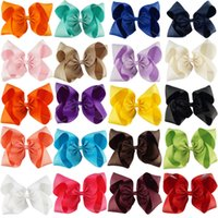 Wholesale Tie Clips For Kids - 10 Inch Hair Bows With Clips Grosgrain Ribbon Jombo Hair Bow For Girl Kid Hair Tie