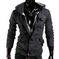 Wholesale assassins creed jacket online - Shelikeit HOT SALE Mens Hoodies Casual Mens Assassins Creed Jacket Special Zipper Sweatshirt Thicken Men Tracksuits M XXL EW