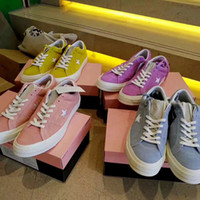 Wholesale Le Run - 2017 High One Star x Golf le Fleur Sneakers Chuck Tay Lor Huang Zilan Pink Casual Fashion Canvas Running Skateboard Shoes Sneakers 35-44
