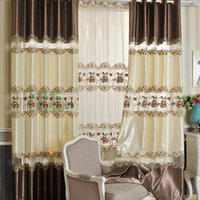Wholesale Chinese Curtains Bedrooms - Embroidered Splice Curtains Chinese Style Living Room Study Room Window Drapes Half Shading Modern Curtain Wholesale Drapes Only