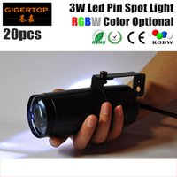 Wholesale Cheap Led Lighting For Weddings - High Quality 20pcs lot 3W LED Pin Spot Light (red,green,blue,white to choose)LED Stage Light Cheap Price For Party Wedding Show TP-E20