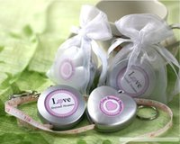 """Wholesale Love Beyond Measure Measuring Tapes - Wedding favors 100pcs lot """"Love Beyond Measure"""" heart or round shaped Measuring Tape Keychain in Sheer Organza Bag Free shipping"""