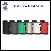 Wholesale Rc Power System - 100% Original Eleaf Pico Dual Mod Kit 200W Output Power Box Mod Fast Charging System RC Adapter Used for Power Bank