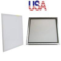 Wholesale Led 48w - Stock In US + 48W led panel 600X600mm Silver White frame led panel 2ft X 2ft led light Panel AC 110-240V UL FCC