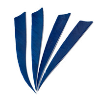 Wholesale Feather Arrow Fletching - 50pcs 5'' Left Wing Feathers for Glass Fiber Bamboo Wood Archery Arrows Hunting and Shooting Shield Blue Fletching