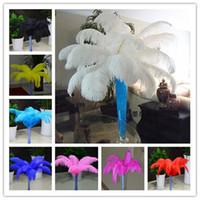 Wholesale Ostrich Plums - Wholesale 14-16 Inch 35-40cm Ostrich Feather Multi Choice Wedding Decoration