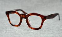 marcas de óculos japoneses venda por atacado-A MÁSCARA artesanal Japonês placa de armação de óculos retro quadro irregular grosso moda de rua marca cores opcionais