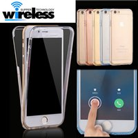 Wholesale For Samsung S7 S8 S8plus iPhone plus Cases Protect Transparent TPU Silicone Flexible Soft full Body Protective Clear Case Cover Capa