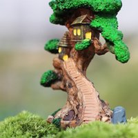 Fairy Tree House DIY Ornamentos de paisagem micro-ecológicos Atacado Moss Bottle Cuts Resin Accessories