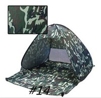 Wholesale Tent Mountaineering - 19 Colors Family Outdoor Quick Cabana Beach Tent Outdoor Automatic Foldable Sun Shelter 3 - 4 Person Portable UV Protection Pop Up