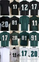 Wholesale Kids Blanks - Youth Kids Game Blank #11 WENTZ #17 Jeffery #20 DAWKINS #12 CUNNINGHAM #91 COX #87 Celek White Black Green Mix Order Home Road Jerseys