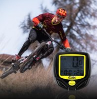 Wholesale wireless computer display - SD-548C1 Wireless Cycling Computer Waterproof Bicycle Odometer Speedometer With LCD Display Bike Speedometer Bicycle Computer KKA2372