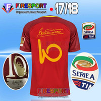 Wholesale Football Specials - TOTTI Farewell Jerseys 17 18 Home soccer DZEKO Special CAPITANO Embroidery DE ROSSI 2017 2018 Serie A NAINGGOLAN Football shirt